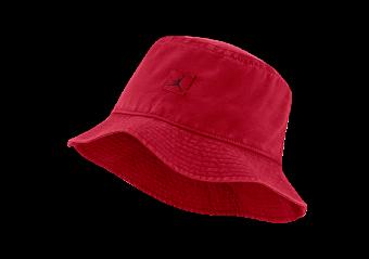 NIKE AIR JORDAN JUMPMAN WASHED BUCKET CAP GYM RED
