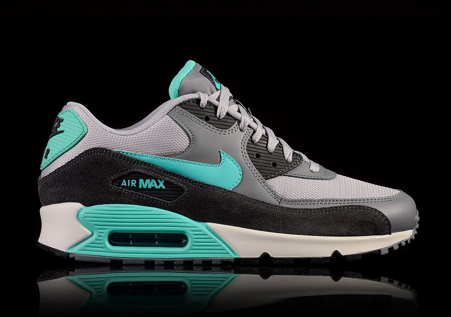 NIKE AIR MAX 90 ESSENTIAL WOLF GREY HYPER JADE