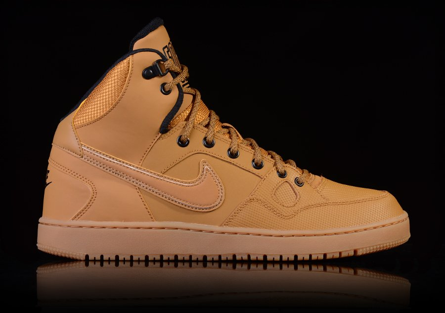 new styles f9ccd d549b NIKE SON OF FORCE MID WINTER WHEAT-BLACK-GM LGHT BRWN voor €87,50   Basketzone.net