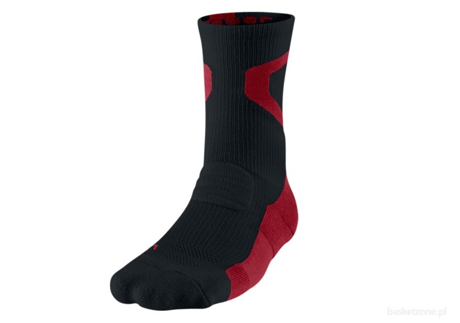 NIKE AIR JORDAN JUMPMAN DRIFIT CREW BLACK/GYM RED