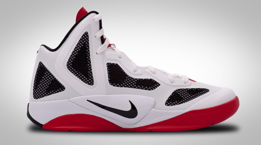 NIKE ZOOM HYPERFUSE 2011 WHITE BLACK RED